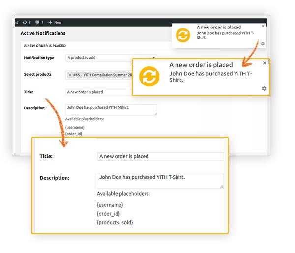 افزونه وردپرس Yith Desktop Notifications For Woocommerce Premium
