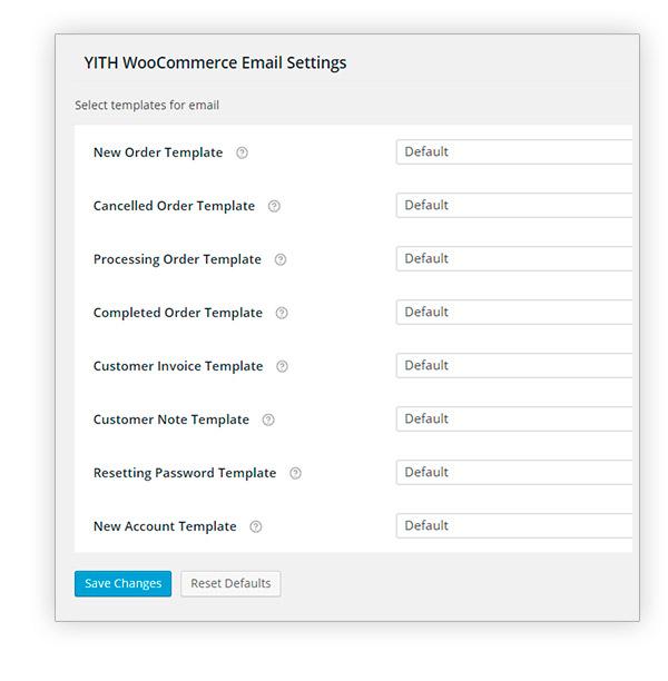 افزونه Yith Woocommerce Email Template Premium