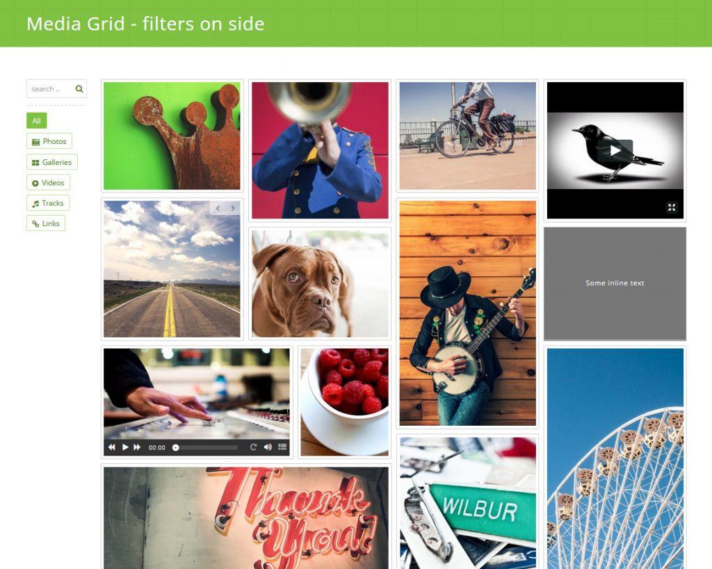 گالری تصاویر Media Grid